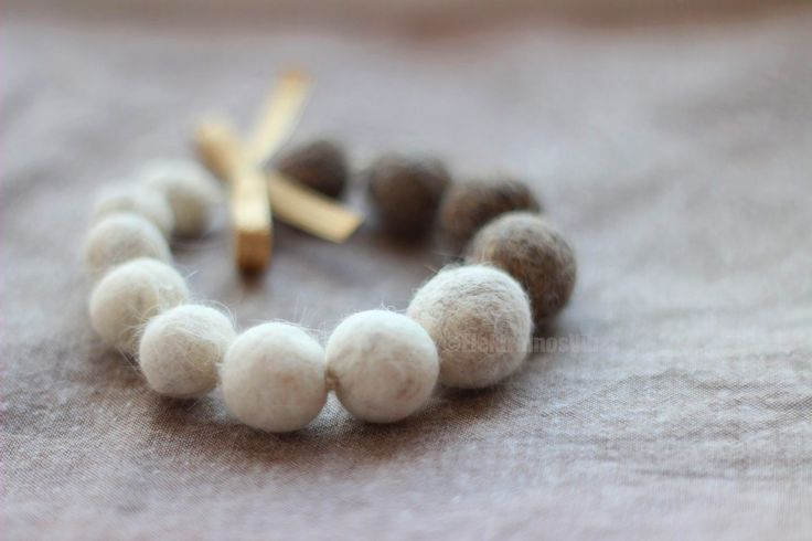 Cat hair felt bead bracelet.  Instead of complaining i've decided to wear cat hair proudly from now on haha