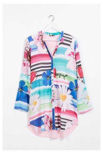 Camicia del pigiama lunga e oversize Desigual. Reinventa la tua casa!