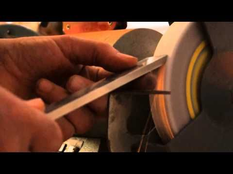 Sharpening a Swept Back Grind or Irish Grind on a Bowl Gouge - How To - YouTube