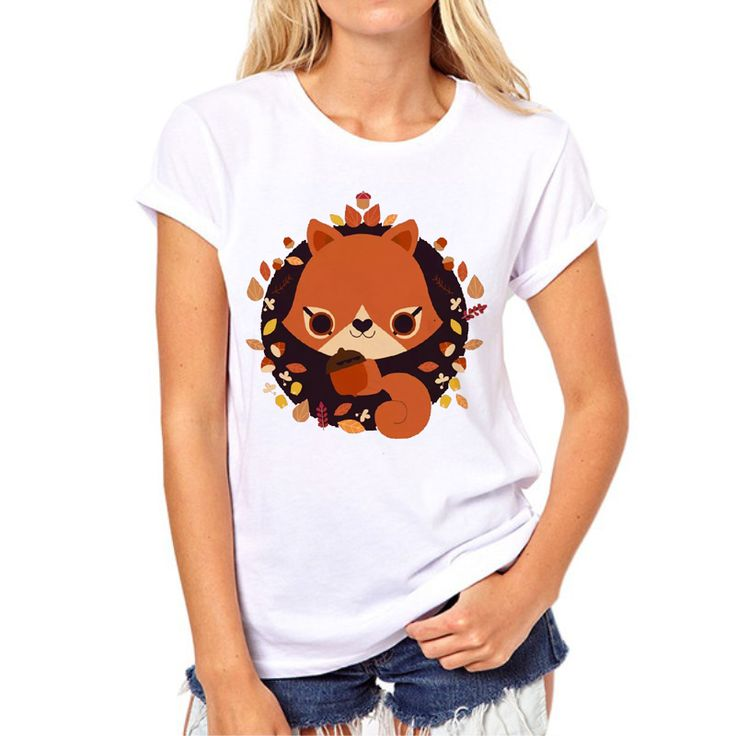 >> Click to Buy << New 2017 Color Painting Fox T shirt women Harajuku Funny Cool Animal Short Sleeve tops women/girl Brand Clothes N8-10# #Affiliate