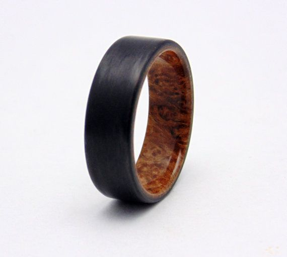 15 best carbon fiber wedding bands and rings images on for Carbon fibre wedding ring