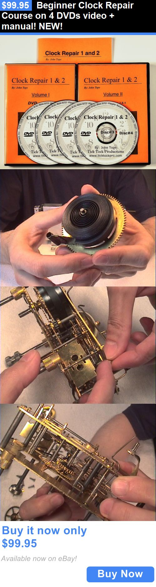 Antiques: Beginner Clock Repair Course On 4 Dvds Video + Manual! New! BUY IT NOW ONLY: $99.95