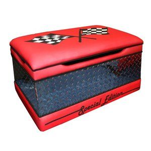 Harmony Kids Magical Race Cars Toy Box in Red