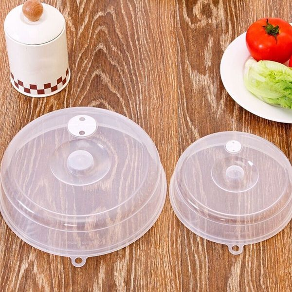 UK Microwave Plastic Food Plate Dish Cover Ventilated Kitchen Lid Safe Cooking