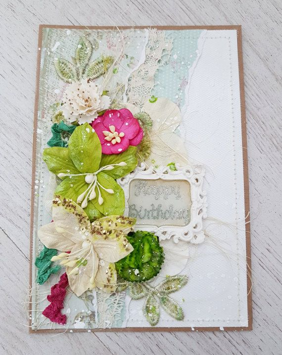16 best greeting cards images on pinterest greeting cards handmade paper party supplies paper flowers gift for birthday gift shabby chic flowers paper greeting cards handmade romantic style women unique m4hsunfo