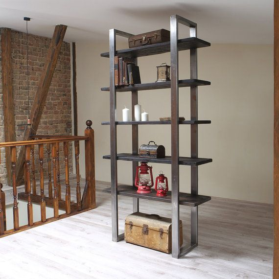 industrial style freestanding shelving unit freistehende regale industrieller stil und regal. Black Bedroom Furniture Sets. Home Design Ideas