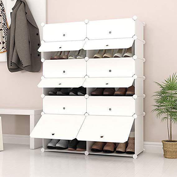 Joiscope Portable Shoe Storage Organzier Tower Modular Cabinet Shelving For Space Saving Shoe Rack She Modular Cabinets Shoe Rack With Shelf Cabinet Shelving