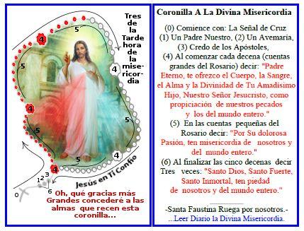 Resultado de imagen para coronilla dela misericordia para imprimir