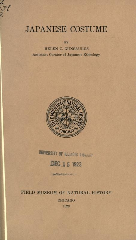 "FREE EBOOK.  Public domain volume, ""Japanese Costume"" by  Helen Cowen Gunsaulus.  Hosted in multiple formats here: http://archive.org/details/japanesecostume12guns  It features some rare info about court costumes- including what various miniutae are called, but is also an easily-cited (FREE!) reference for those ""common knowlege"" kimono things teachers still demand citation for, like what a netsuke is, how tasuki are worn, etc.  Some spellings (""han-yeri"" for ""han-eri"") are weird but…"