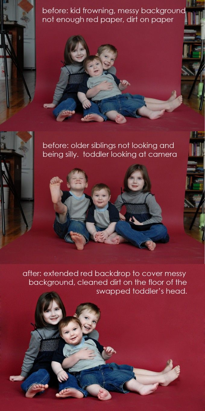 Photo Makeover | Headswap and Background Fix