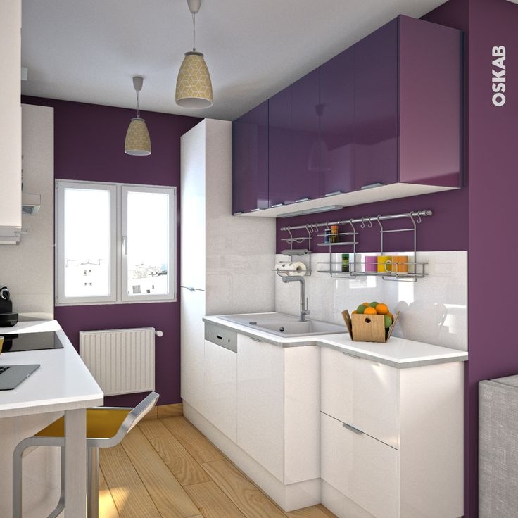 de oskab cuisine aubergine modèle keria aubergine brillant cuisine ...