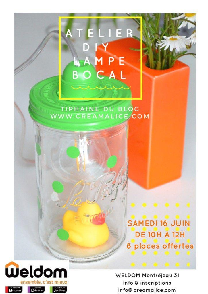 Atelier Diy Avec Weldom Diy Lampe Bocal Diy Lampe Bocal