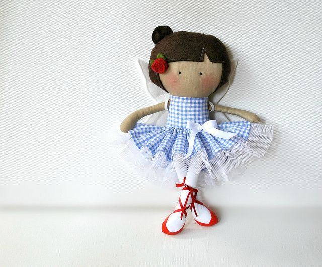 My Teeny-Tiny Doll™ Amber by Cook You Some Noodles, via Flickr - what a cute ballerina