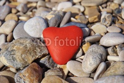 Heart red stone