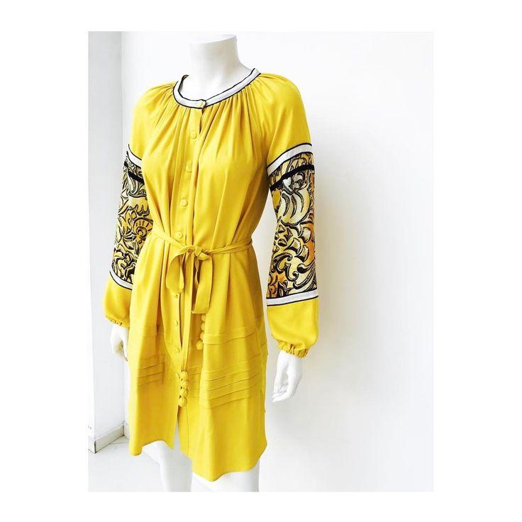 Hello yellow!  #coricollection #silk #dress