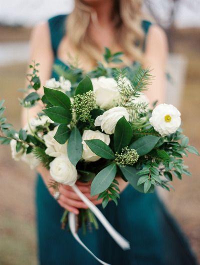 Emerald bouquet: http://www.stylemepretty.com/texas-weddings/2014/12/26/emerald-green-winter-wedding-inspiration/ | Photography: Josh Brummett - http://www.jeffbrummettvisuals.com/