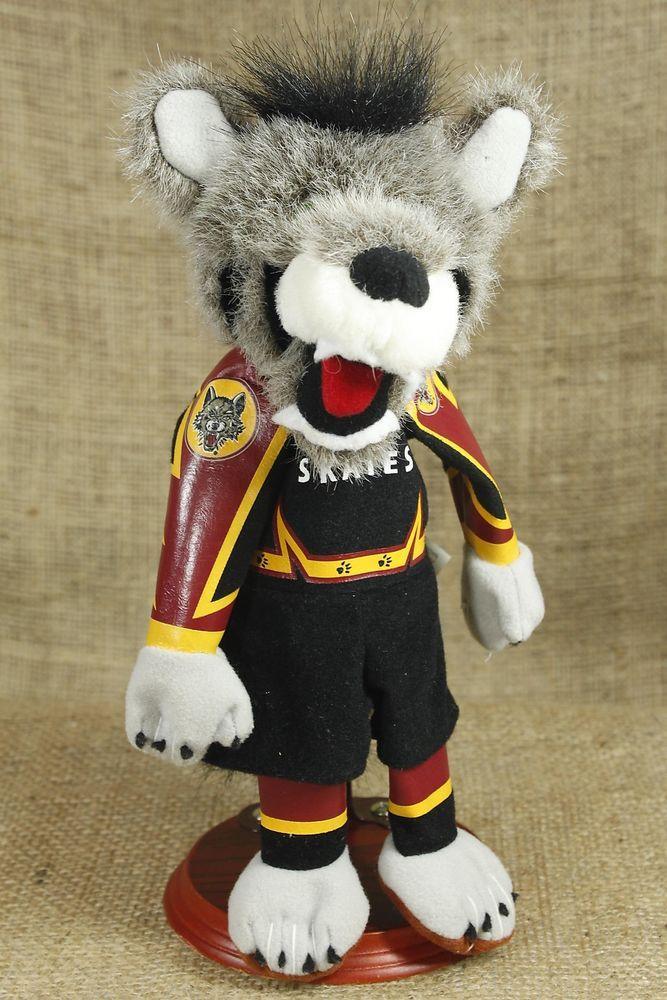 Chicago Wolves Hockey SKATES Team Mascot Bean Bag Plush Wolf 9 inches #94 P31
