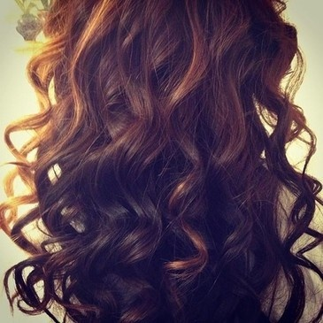 Hair curls long pretty silky wand curls