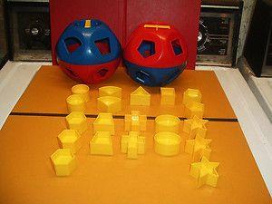 vintage toys 1970s   Vintage Tupperware Ball Toys Shapes 1970'S   eBay