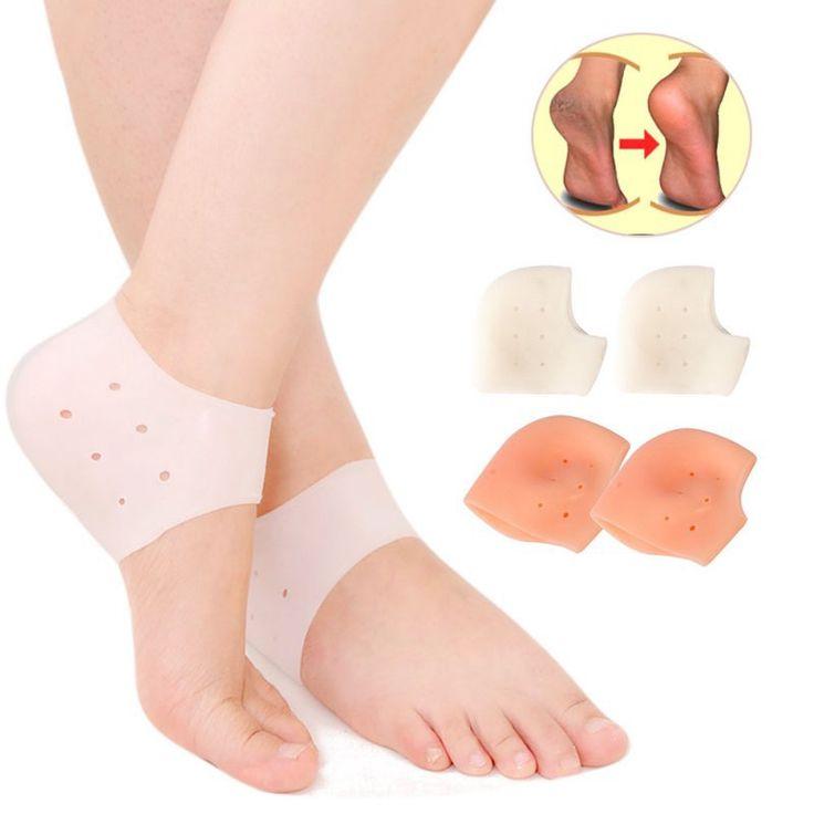 1 Pair Silicone Gel Socks Moisture Heel Stick Socks How Foot Guard Cracked Skin Care
