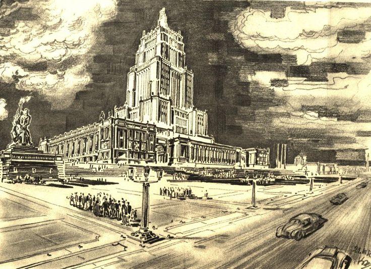 """The Six-Year Plan for the Reconstruction of Warsaw , Jan Knothe, """"Sześcioletni plan odbudowy Warszawy"""", wyd. Książka i Wiedza 1950"""