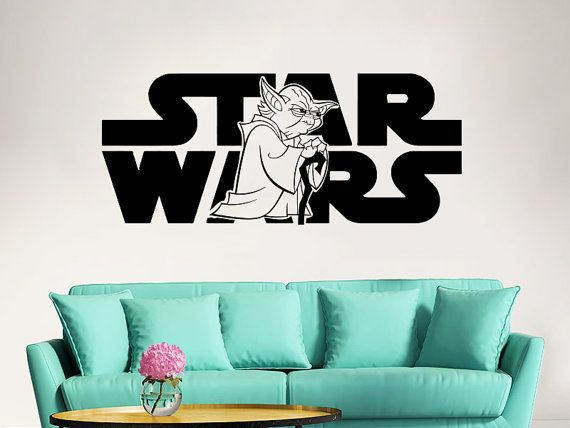 Star Wars Wall Decal Vinyl Sticker Decals Star Wars Logo Yoda Wall Decal  Children Kids Nursery Bedroom Office Decor Window Dorm Welcome, You Are  Incredible! Part 70
