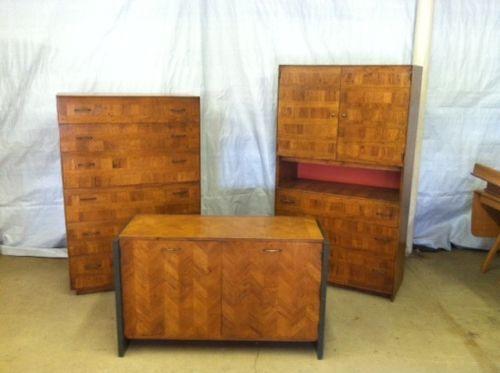 Vintage-3-Piece-Mid-Century-Danish-Modern-Lane-Bedroom-Dresser-Set-L-K