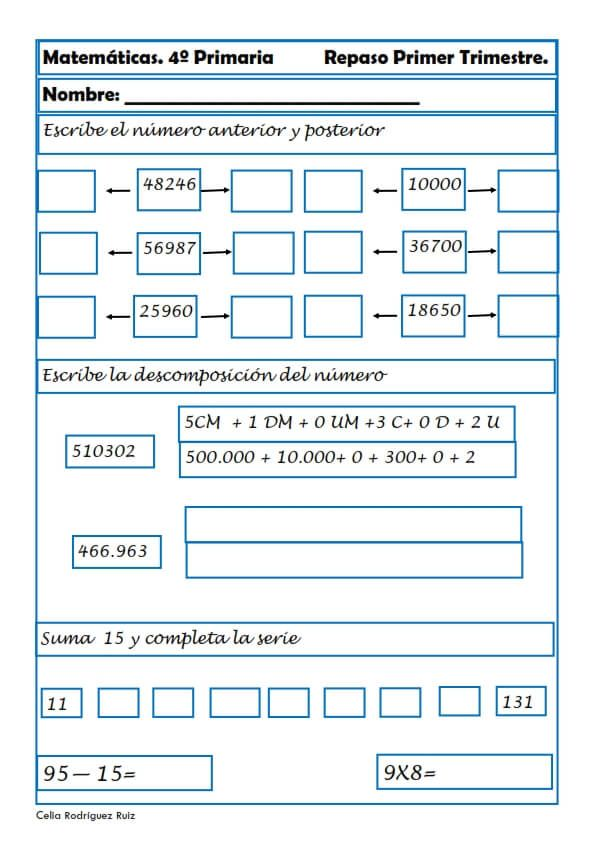 Matemáticas cuarto de primaria 22 | Escuelas | Matematicas cuarto ...