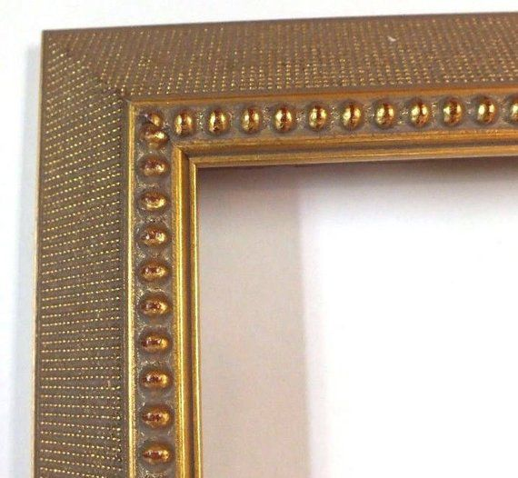 This Is A Lovely Ornate Art Nouveau Picture Frame Antiqued Gold Leaf Wood 12 X 16 Rabbit 1 Deep 12 X 16 Antique Gold Ornate Picture Frames Picture Frames Frame
