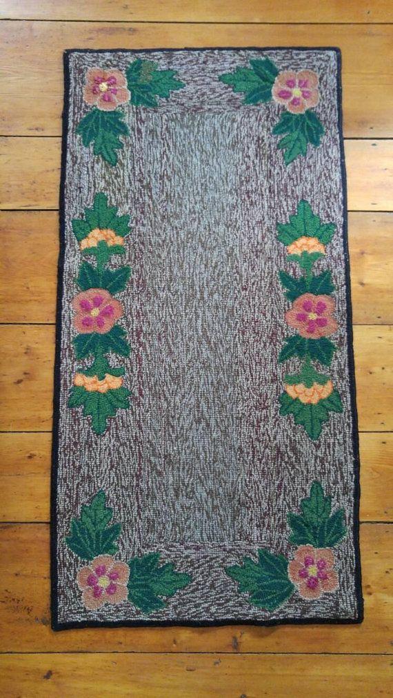 Antique Nova Scotia Hooked Rug Mat