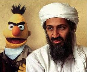 "Bert and Osama bin Laden - De la série ""Bert is Evil"""