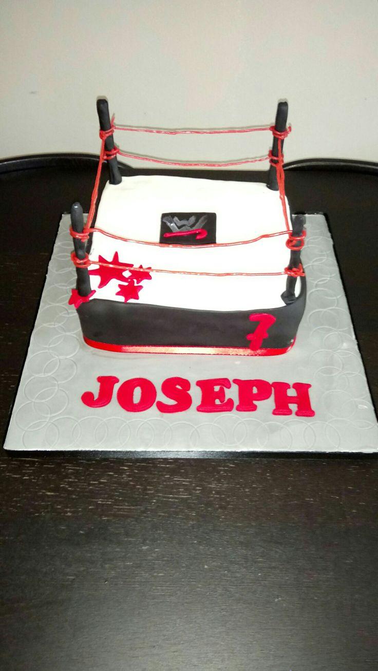 Wrestling ring cake #wrestling #cake