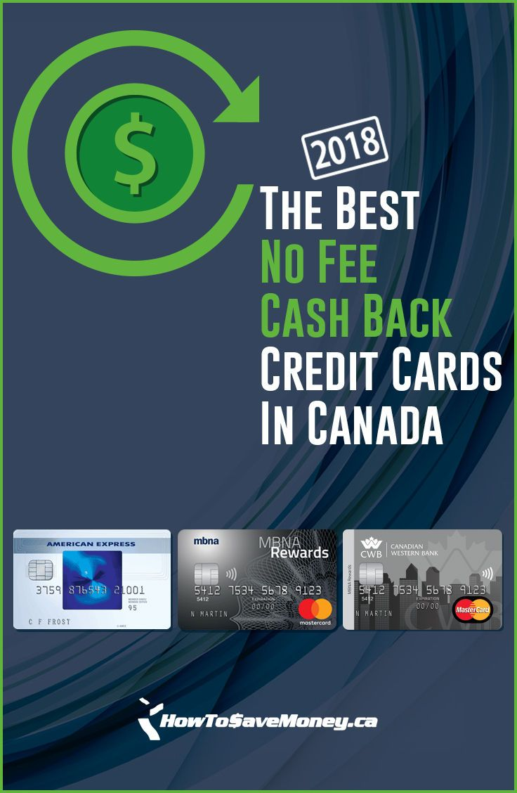 Best No Fee Cash Back Credit Cards In Canada 2018 Small Business