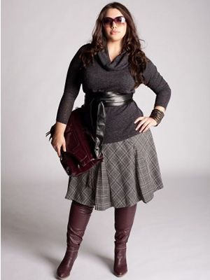 Actually, I would do this with a pencil skirt. Love the whole effect though.