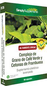 Complejo de Grano de Café Verde y Cetonas de Frambuesa - Esta combinación de adelgazantes naturales son un suplemento dietético fantástico.