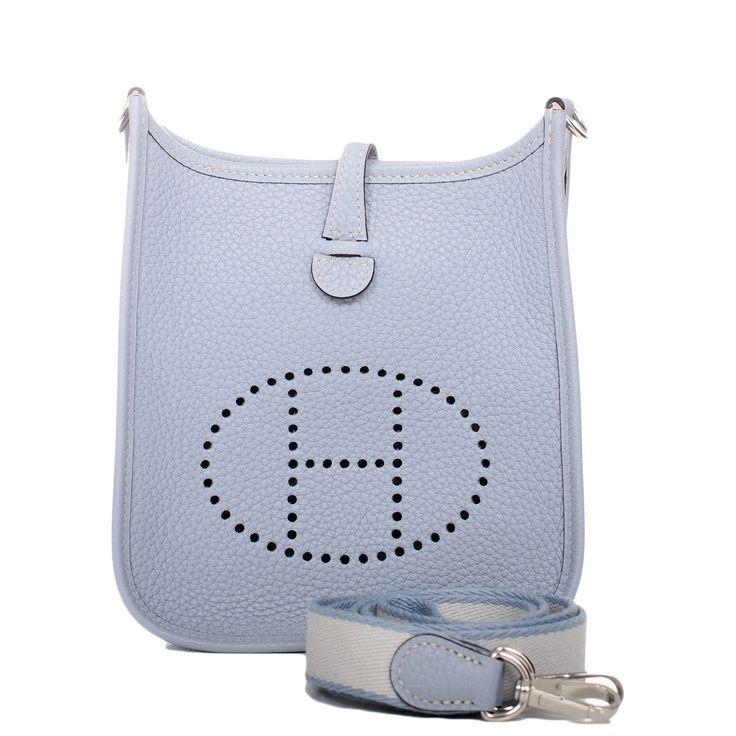 Evelyne III Hermes shoulder bag in electric blue epsom calfskin ...