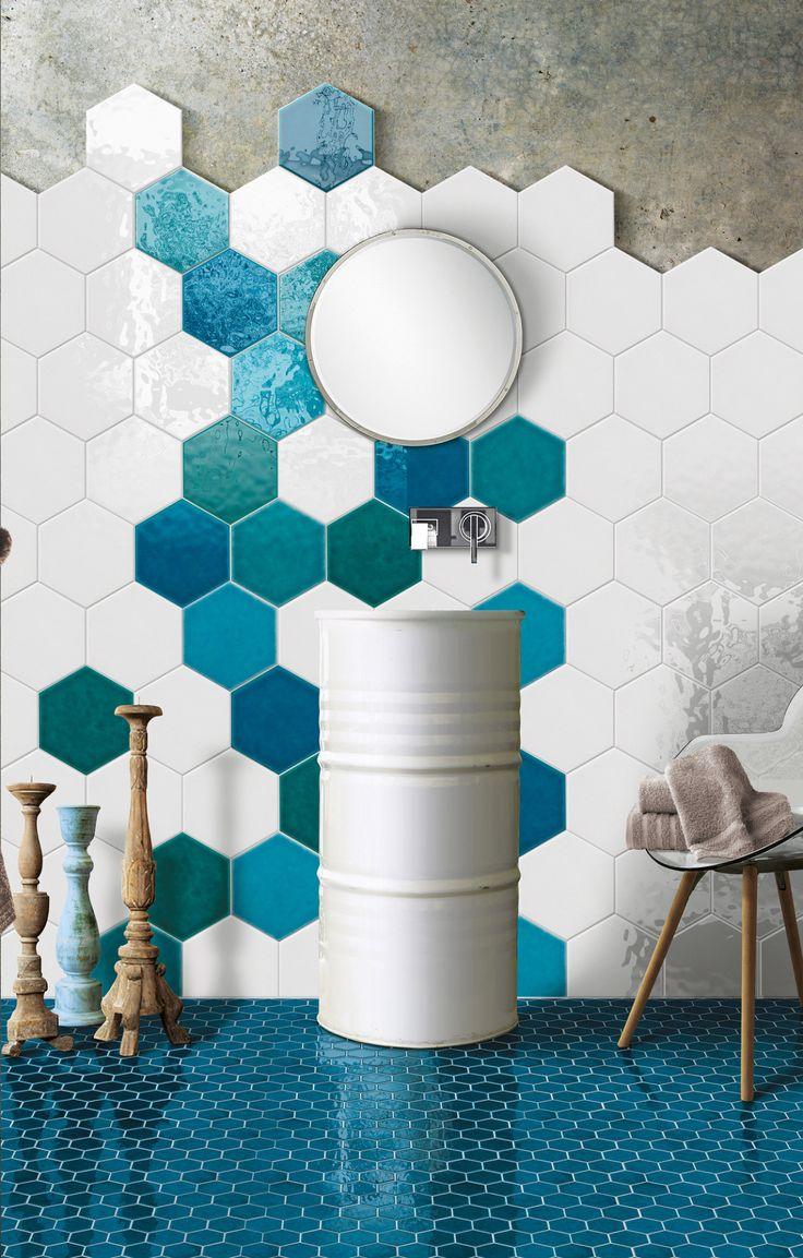 Plus de 25 des meilleures id es de la cat gorie carr s d for Carrelage hexagonal mural