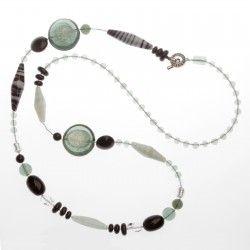 Antica Murrina Arcadia #Necklace Grey Long #jewellery #murano