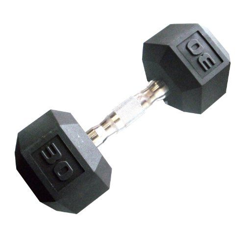 Cap Barbell Workouts Coated Hex Dumbbell, Black, 30 lb - http://www.myhomegymequipment.com/arm-exercise-machine/cap-barbell-workouts-coated-hex-dumbbell-black-30-lb/