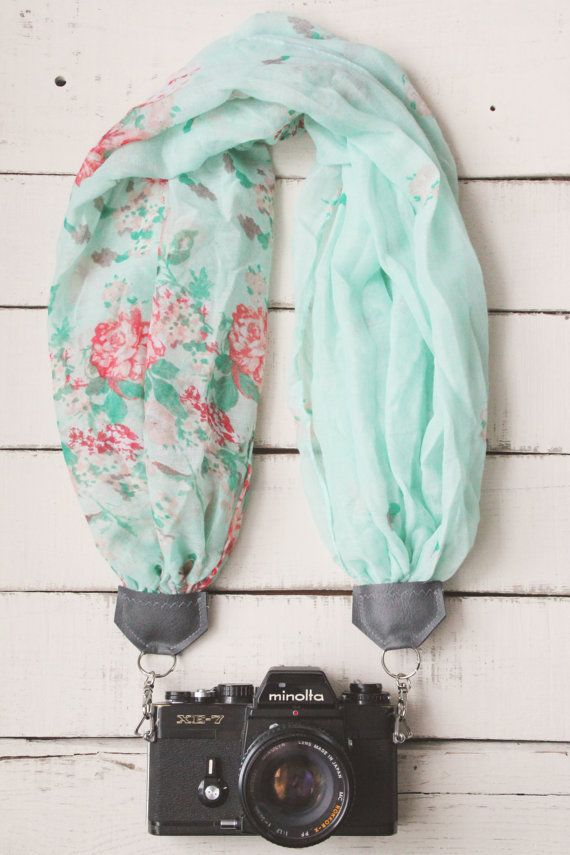 Camera Cozy // Asymmetrical Turquoise & Roses by AnnabellsWorkshop, $38.00