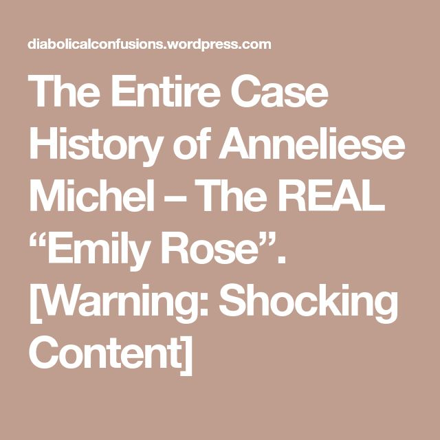 "The Entire Case History of Anneliese Michel – The REAL ""Emily Rose"". [Warning: Shocking Content]"