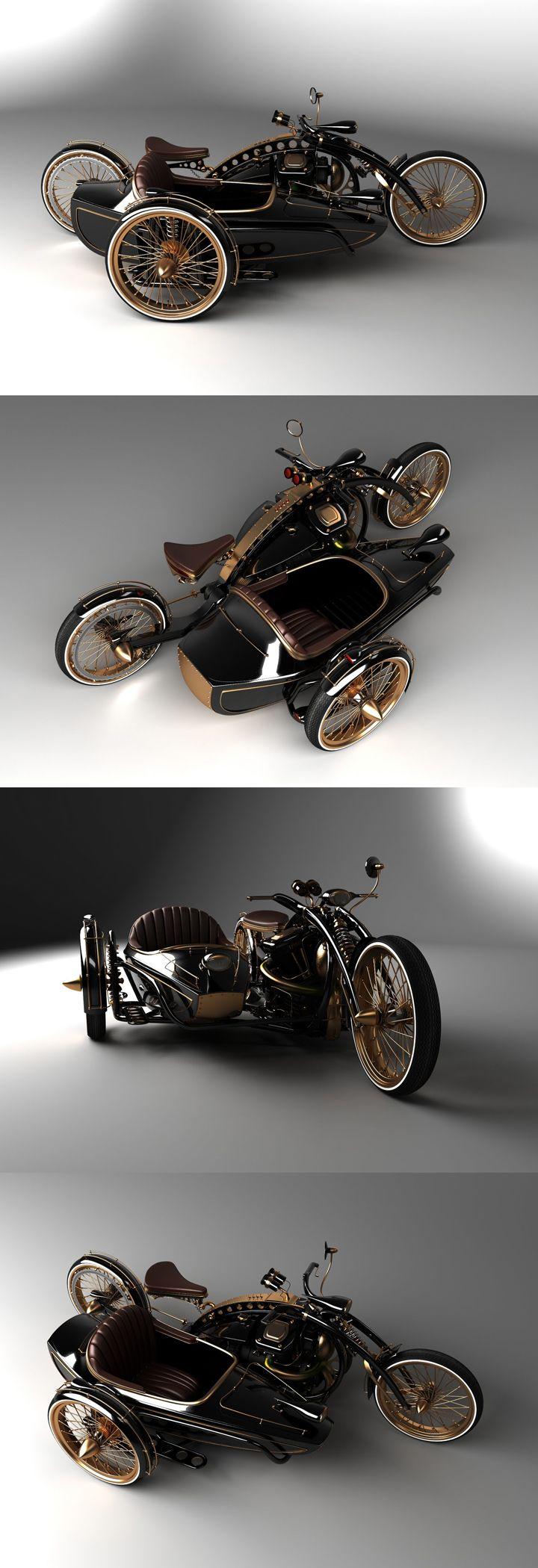 Concepto Steampunk #Moto #Custom