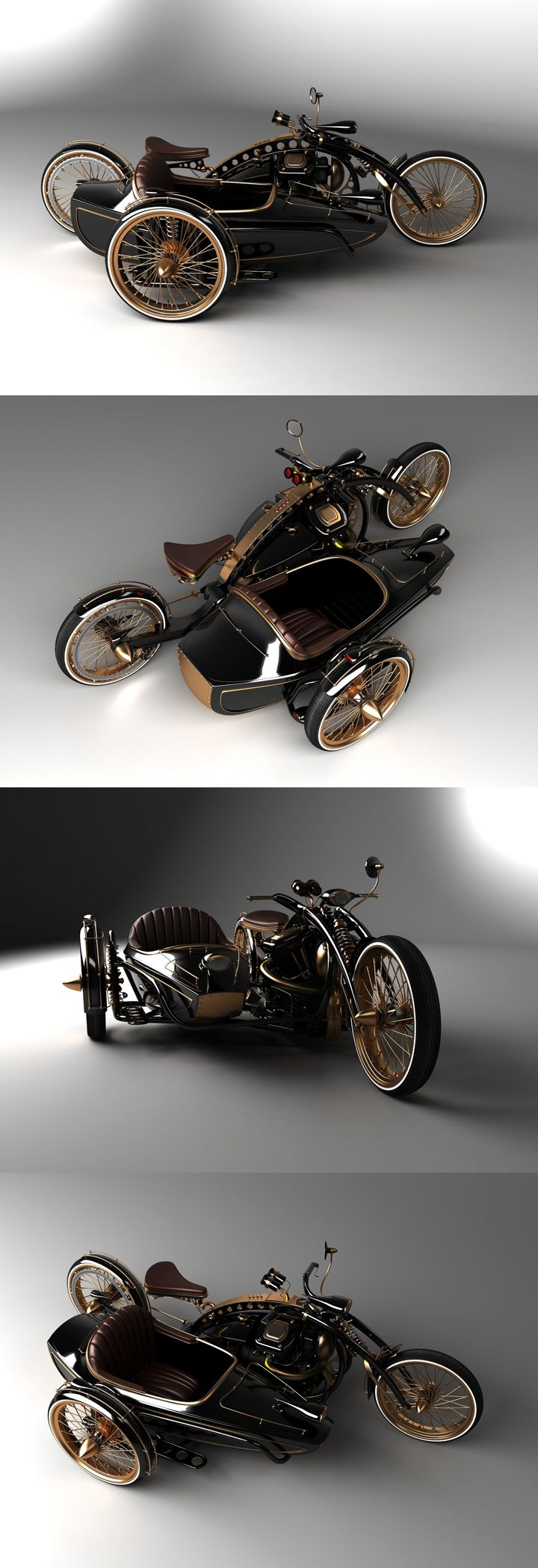 "♂ Steampunk Chopper ""Black Widow"" in production. from…                                                                                                                                                                                 More"