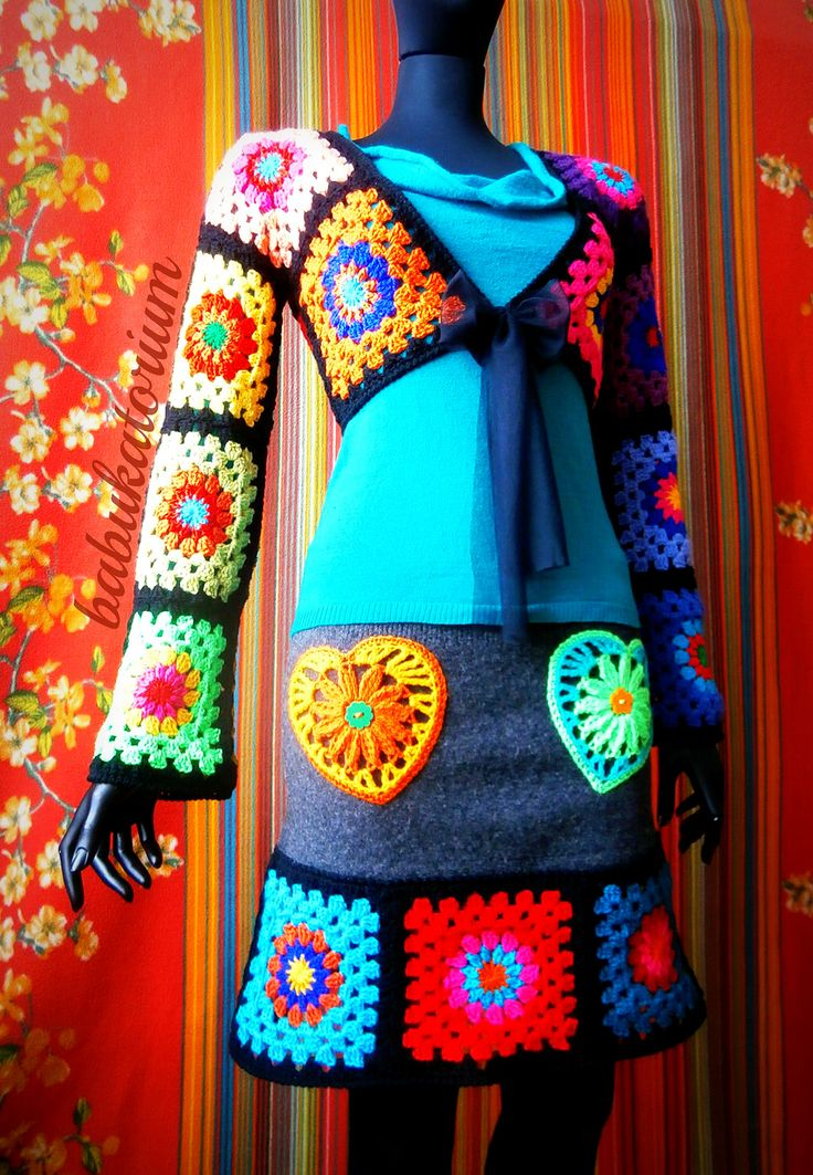 Granny Square Bolero And Granny Square Skirt | Flickr - Photo Sharing!