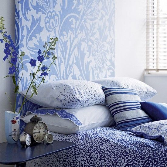 blue bedrooms | Pale Blue and White Bedrooms | Panda's House