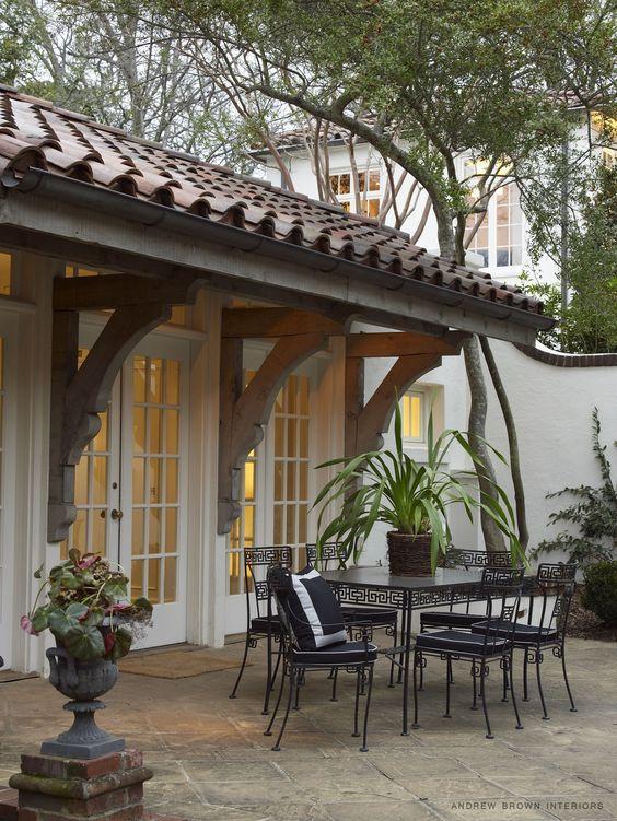 Porches con tejas dise o de techos exteriores de casas for Diseno exterior casa contemporanea