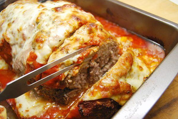 Parmesan Meatloaf - Delicious Italian inspired ground turkey meatloaf.