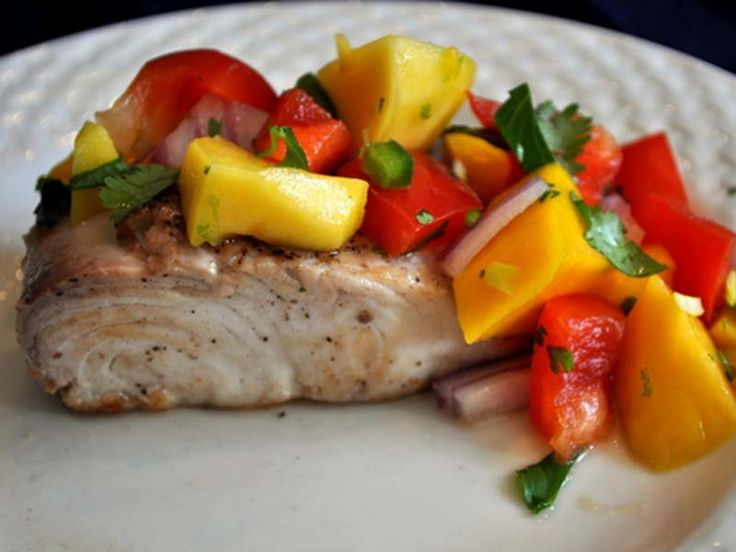 Mahi mahi with mango salsa pan sear fish recipes for Mango salsa recipe for fish