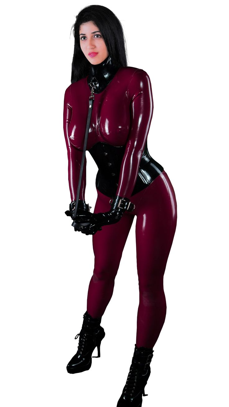 Sexy girl latex bondage-5319