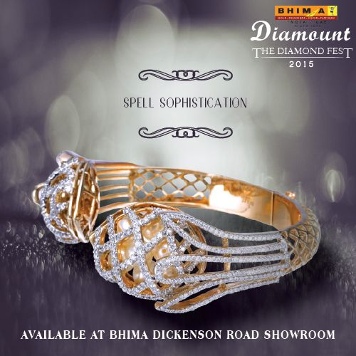Nothing is more superior than diamonds around your wrist. Go ahead, wave that regal hand at your admiring crowds with #Bhima #Diamonds.